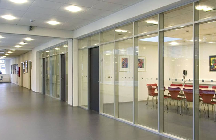 80 double glazed partition