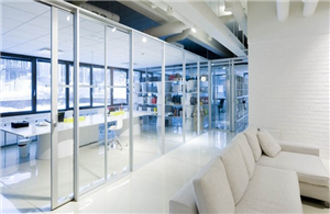 Mover operable glass partitions
