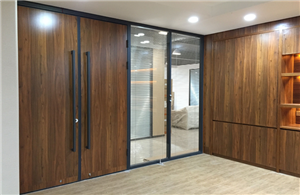 100 double wooden face partition