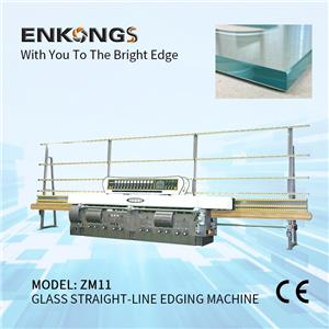 ZM11 Glass Straight-line Edging Machine with 11 spindles