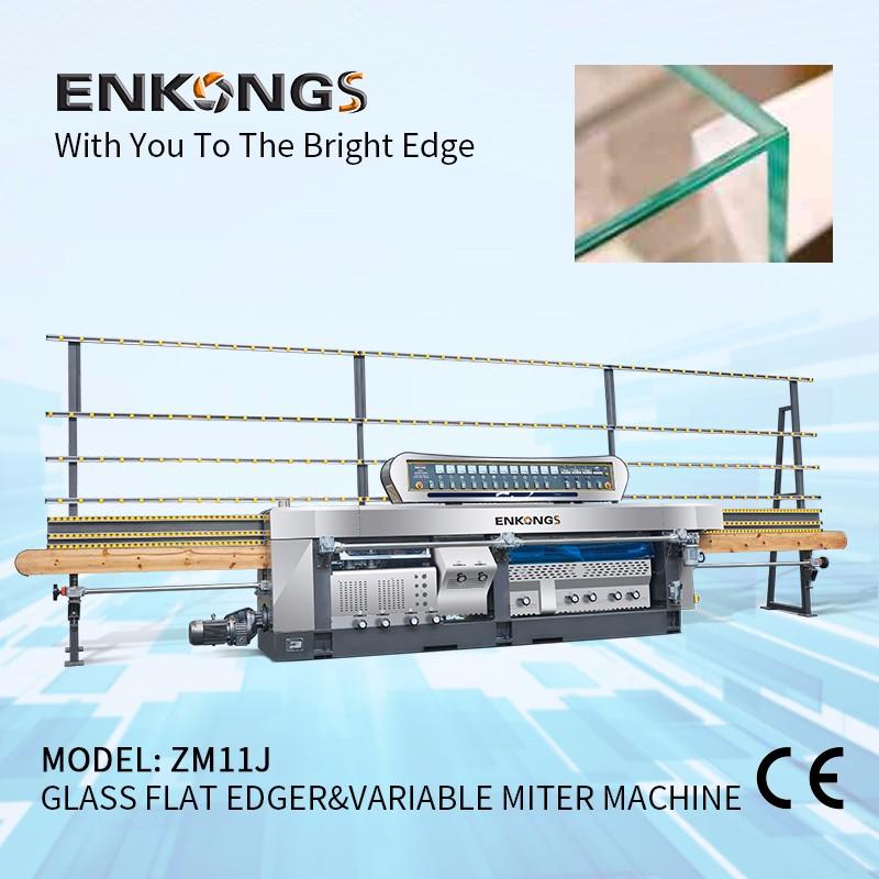 ZM11J Glass Flat Edger & Variable Miter Machine