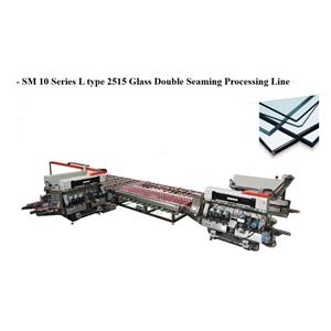 SM10 Glass 1510 Straight-line Double Sides Seaming Processing line With 10 Spindles