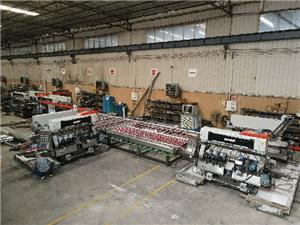 SM10 Glass 1010 Straight-line Double Sides Seaming Processing Line For Construction Glass