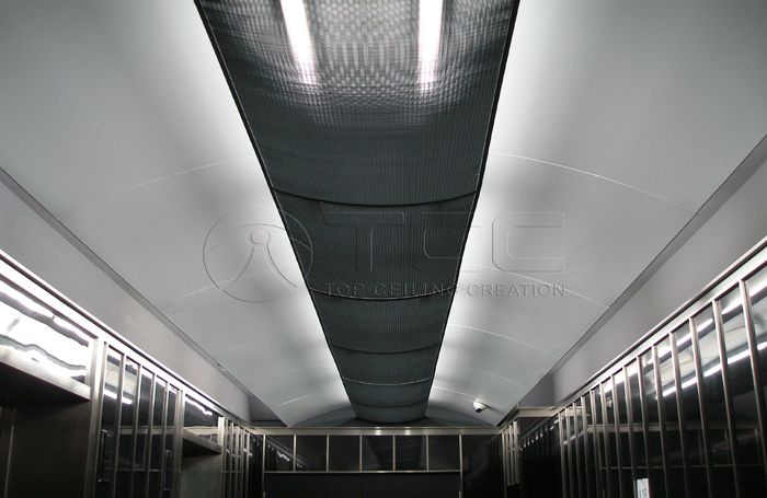 Metal combined ceiling