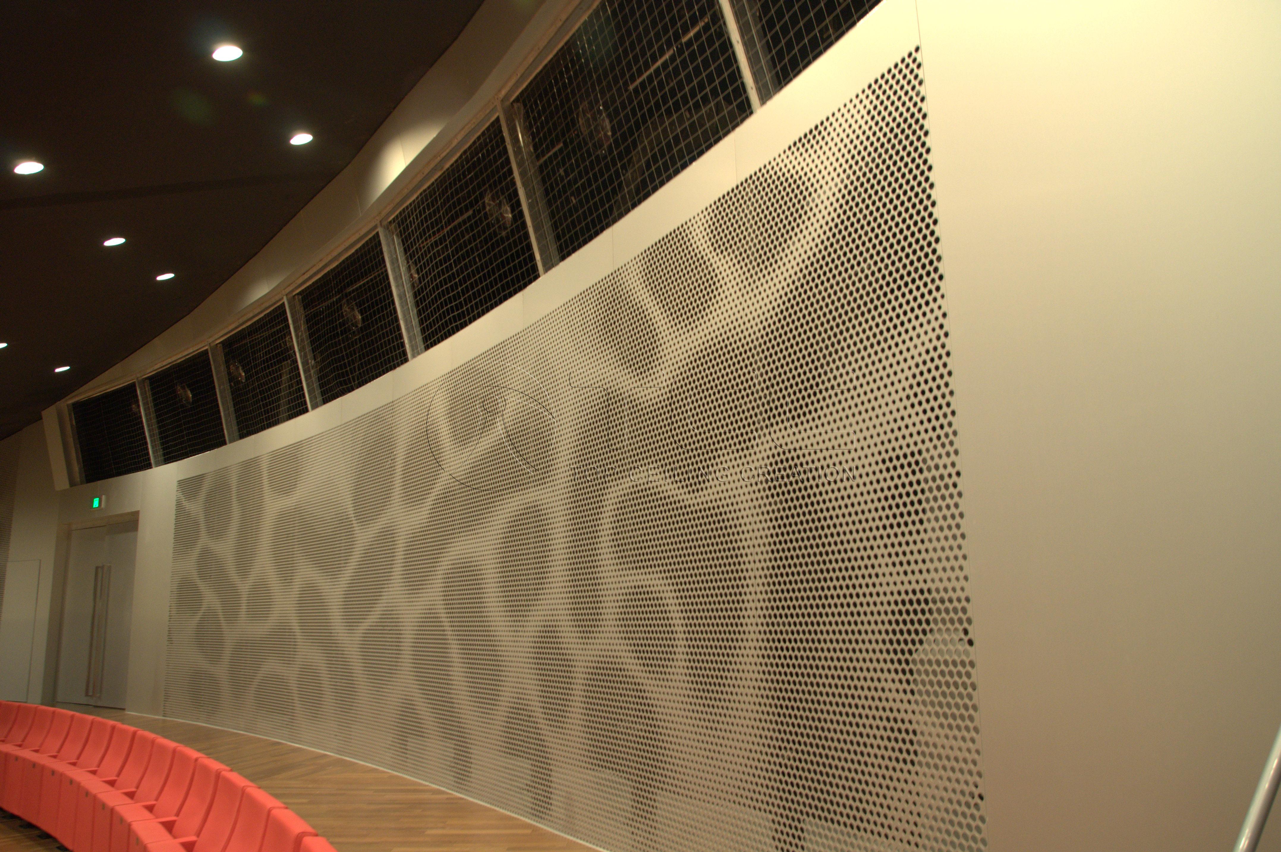 Artistic perforation panel