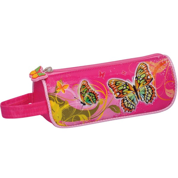 PVC high frequency voltage butterfly design cute pencil bag for girls