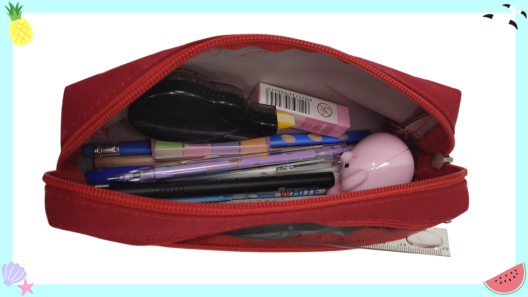 two-layer large and stylish pencilbox with PU Manufacturers, two-layer large and stylish pencilbox with PU Factory, Supply two-layer large and stylish pencilbox with PU
