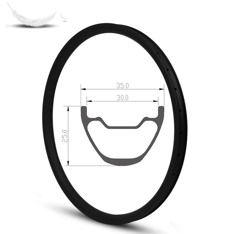 29er Carbon Rims 35mm Width 25mm Depth Tubeless Rims