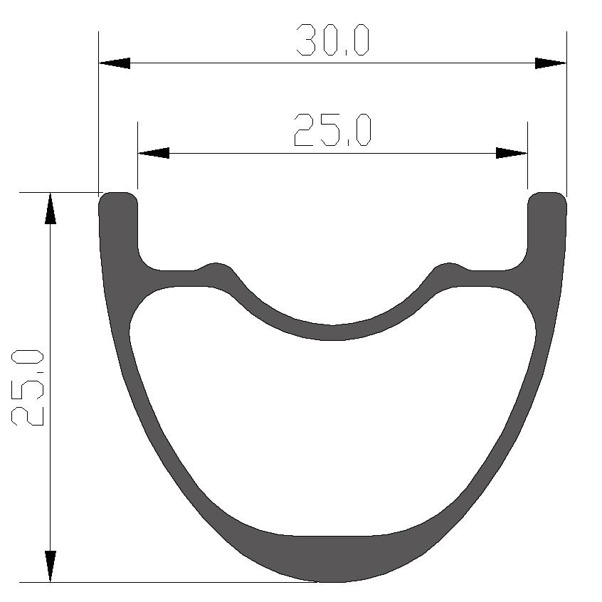 26er Mtb Rims 30mm Width Symmetric Type