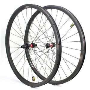 700c Mtb Xc Wheelset 33mm Width Asymmetric