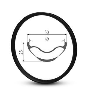 29er Mtb Rims 50mm Depth Hookless Rims