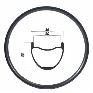 29er 36mm width 30mm depth XC AM MTB rims hookless