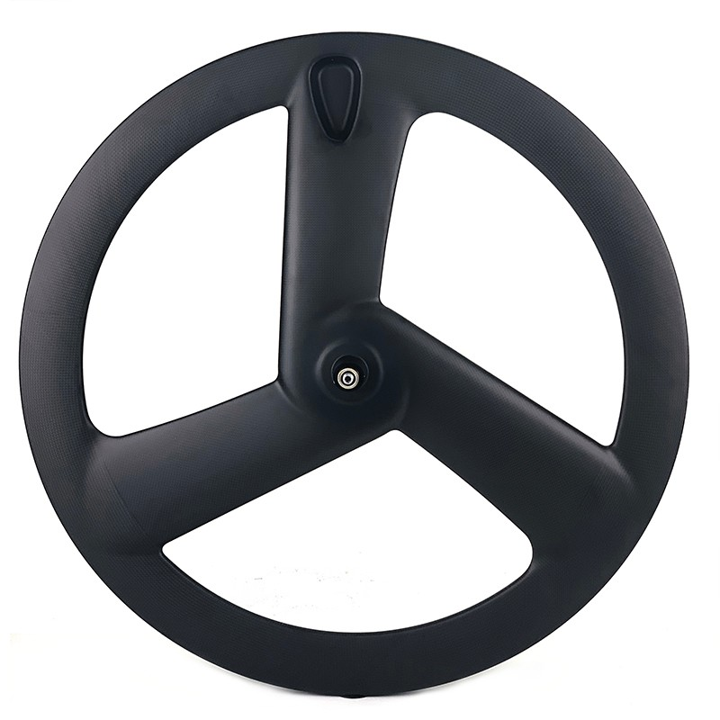 700C aerodynamic carbon fiber tri spoke wheel