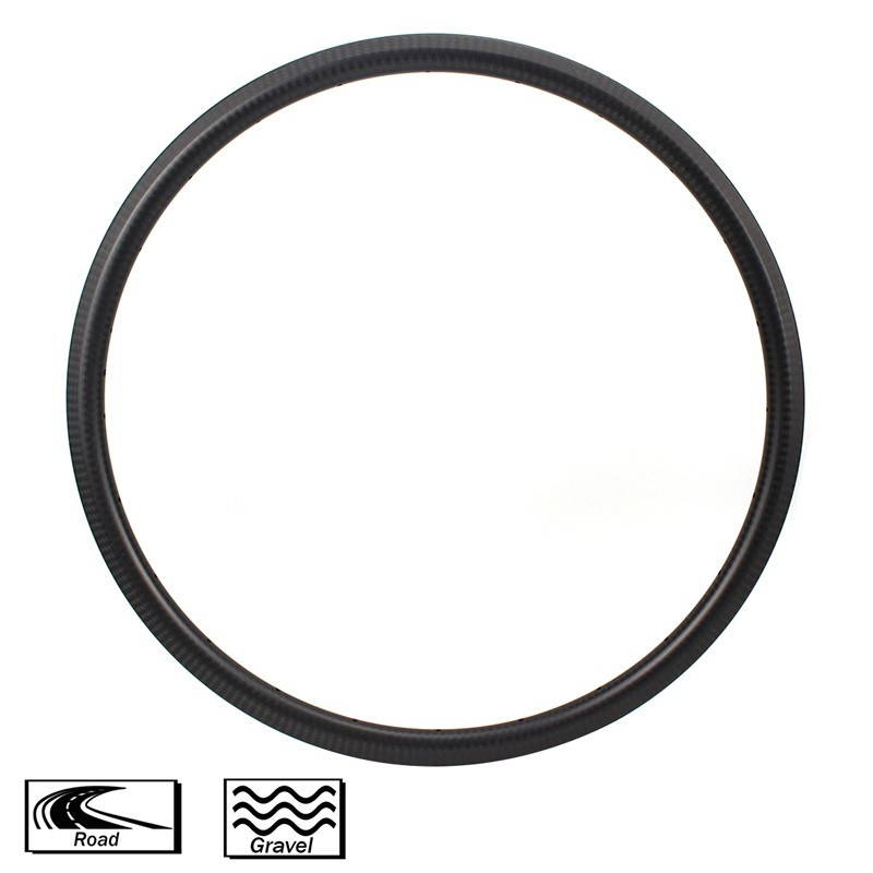 700c Carbon Fiber Road Rims 30mm depth 28mm width Tubeless