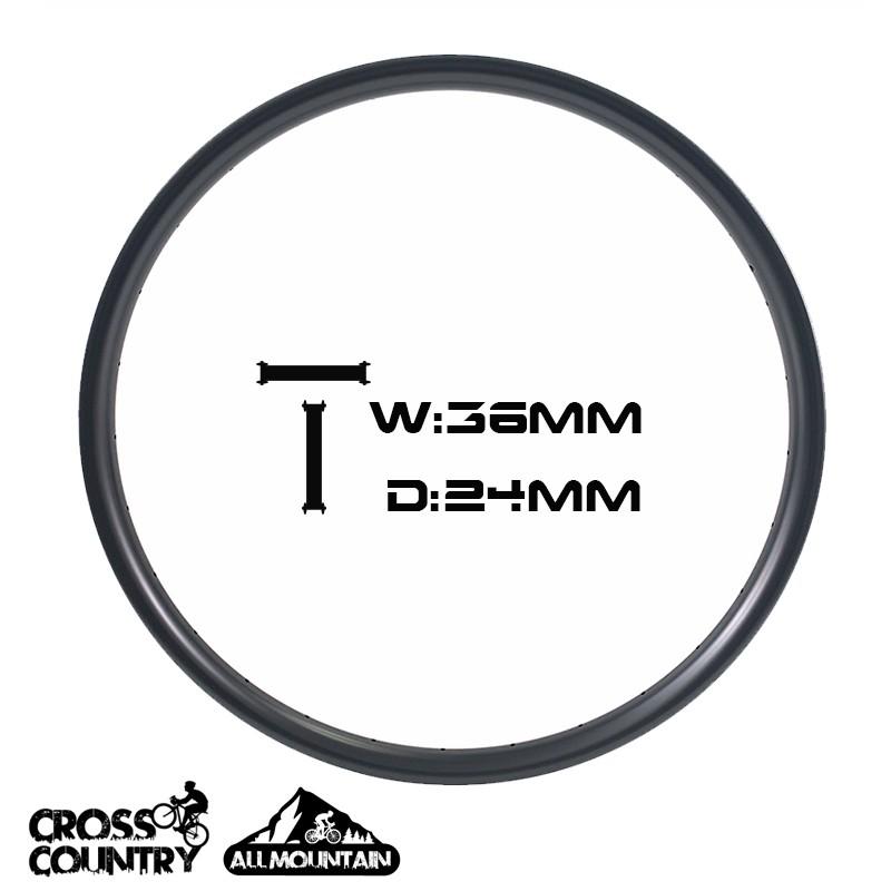 Асимметричные диски 29er Ширина 36 мм Глубина 24 Асимметричные все горы