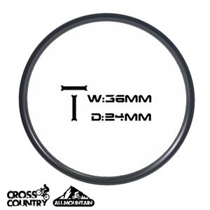 29er Asymmetric Rims 36mm Width 24 Depth Asymmetric all mountain