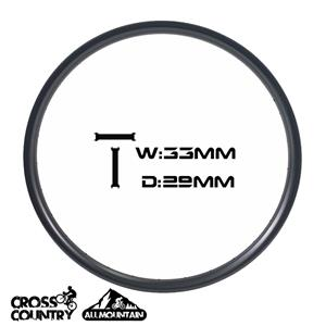 29er Mtb Carbon 33m Larghezza 29mm Profondità Cerchi asimmetrici