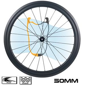 700C BWA wheelset road disc brake tubeless 40mm 50mm rim depth