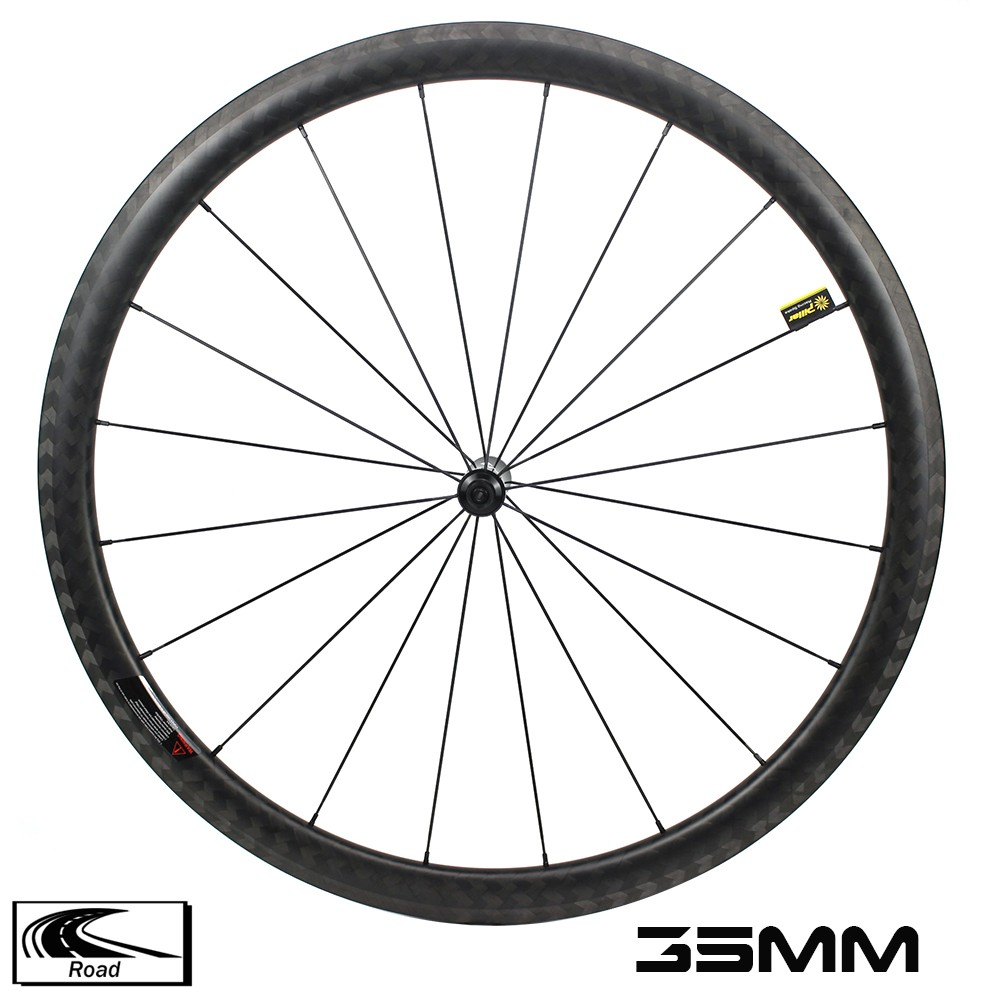 YAR35-01 700C 35MM road bike wheelset 28mm width sapim cx ray spokes