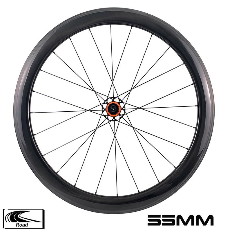 YAR55-01 шоссейный велосипед 55 мм глубина 28 мм ширина R10 ступица карбоновая колесная пара 4 собачки 3k саржа 0 ° тормозная поверхность