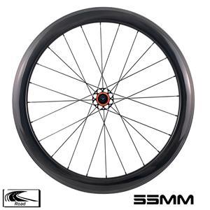 YAR55-01 road bike 55mm depth 28mm width R10 hub carbon wheelset 4 pawls 3k twill 0° brake surface