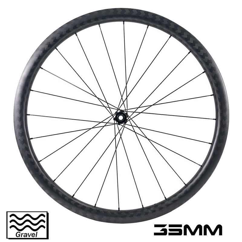 Велосипедная пара 700c Carbon Cycrocross, глубина 35 мм, внешняя ширина, 32 мм, гравийная колесная пара