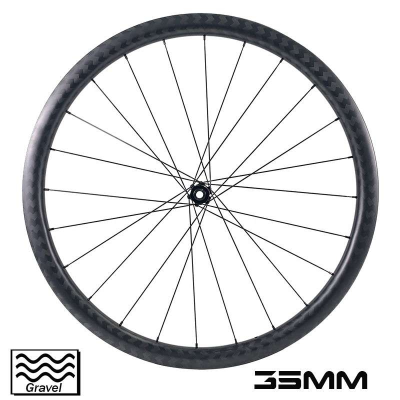 700c Carbon Cycrocross Bike Wheelset 35mm Depth 32mm outer width gravel wheelset