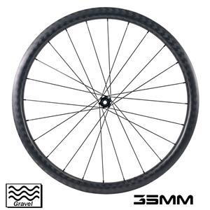700c Carbon Cycrocross Bike Wheelset 35mm Depth 32mm larghezza esterna ruote ghiaia