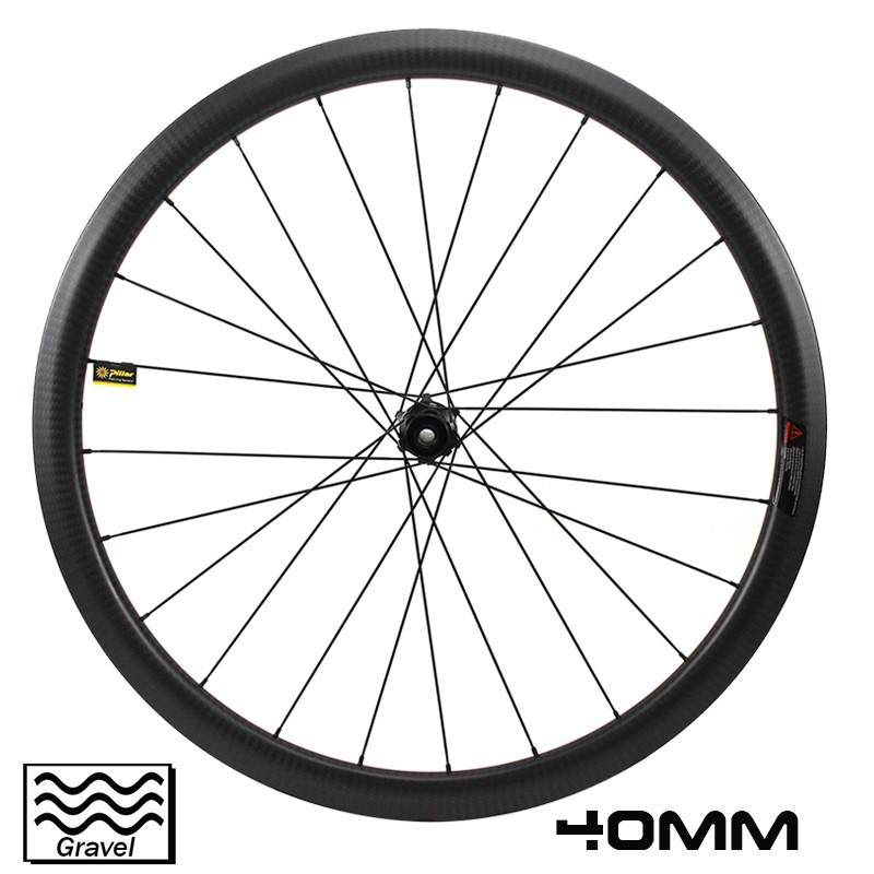 700C gravel bike wheeslet 40mm depth 19.5mm inner width cyclocross