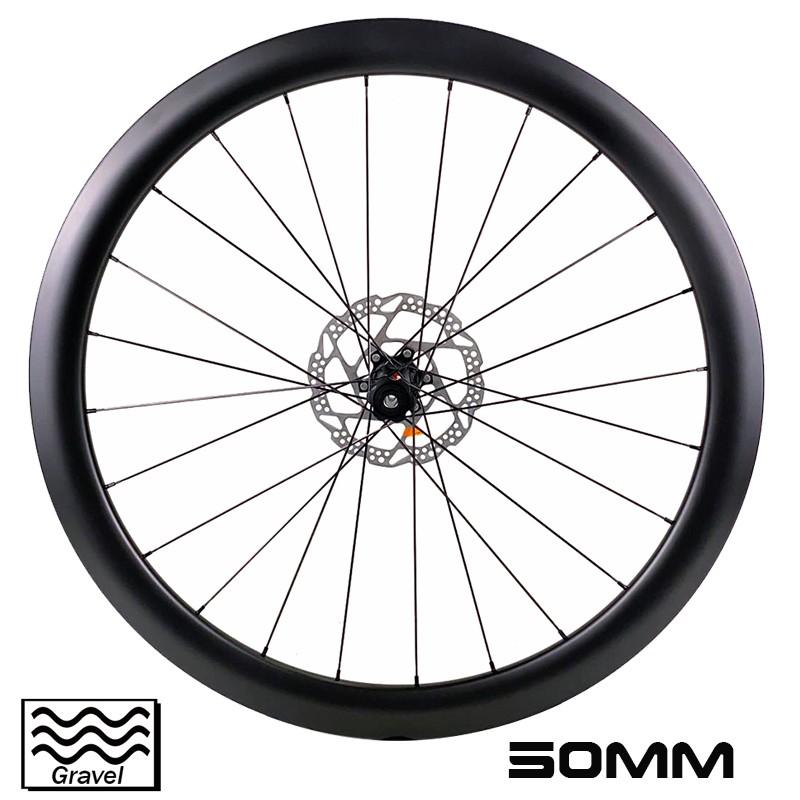 Велосипедное колесо для гравийного велосипеда 700C, глубина 50 мм, внутренняя ширина, 19,5 мм, велосипедный кросс