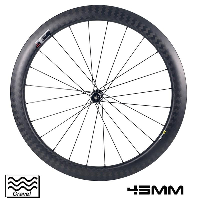 700c Gravel Bike Wheelset 45 мм глубина обода 29 мм внешняя ширина бескамерная