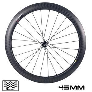 700c Gravel Bike Wheelset 45mm rim depth 29mm outer width tubeless