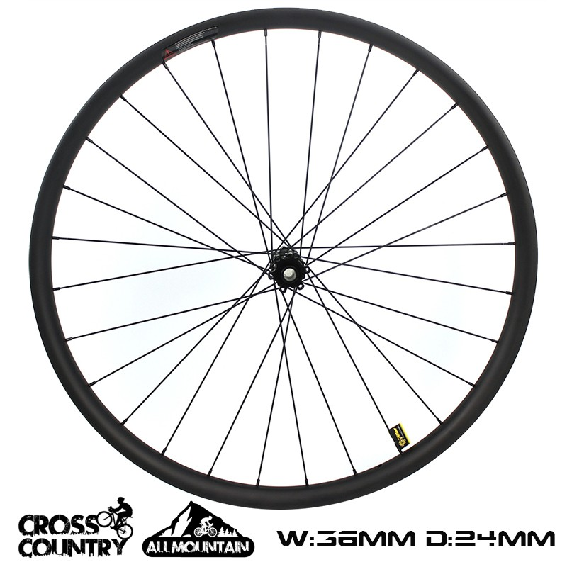 29er Mtb Wheelset 36mm Width 24mm Depth Asymmetric xc wheelset AM bike wheelset