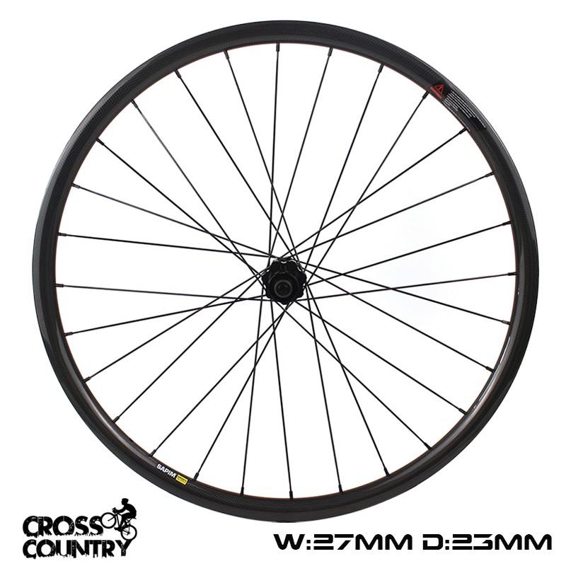 29er Wheelset 27mm Width Hookelss XC Rims 23mm width asymmetric type symmetric