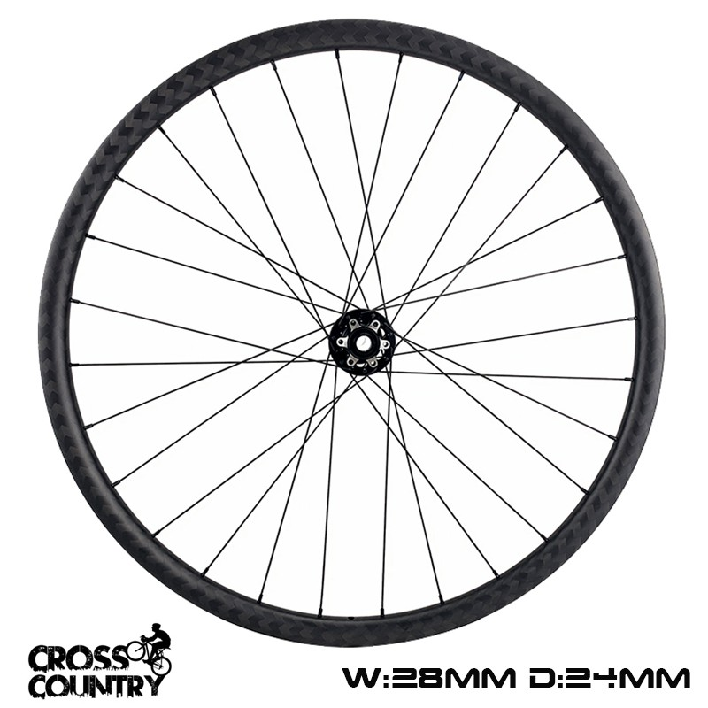 650B Wheelset 28mm Width Asymmetric 24mm depth ultralight xc rims