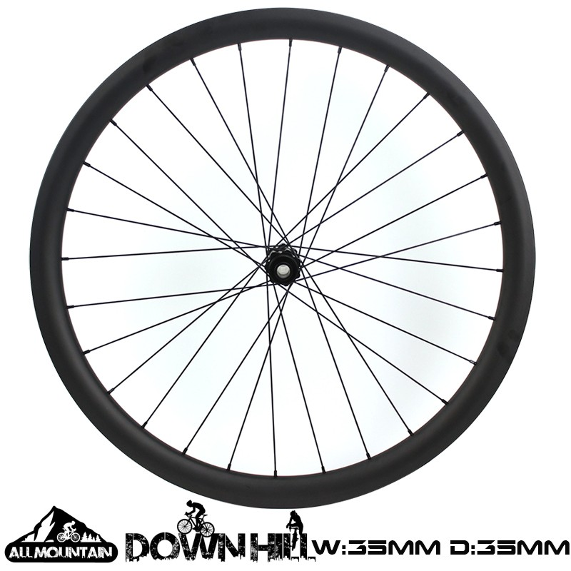 27.5er All Mountain Wheelset 35mm Width 35mm depth Hookless Down hill bike wheelset
