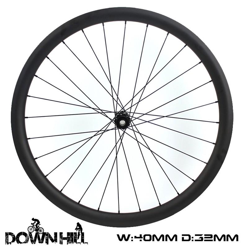 27.5er Enduro Wheelset 40mm Width 32mm Depth Hookless Down hill wheelset
