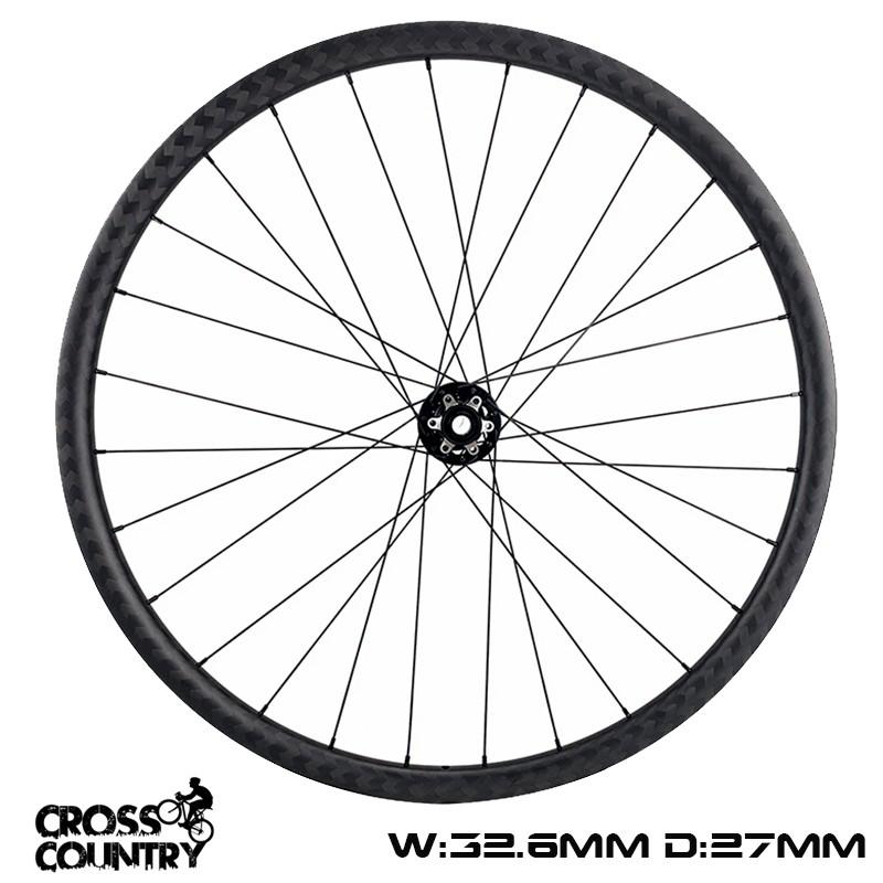 27.5er Carbon Xc Rims 32.6mm Width 27mm Depth Symmetric cross country ultralight