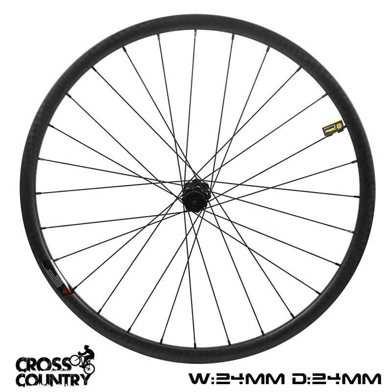 29er Mtb Rims 24mm Depth 24mm Width Xc wheelset symmetric 12k weave