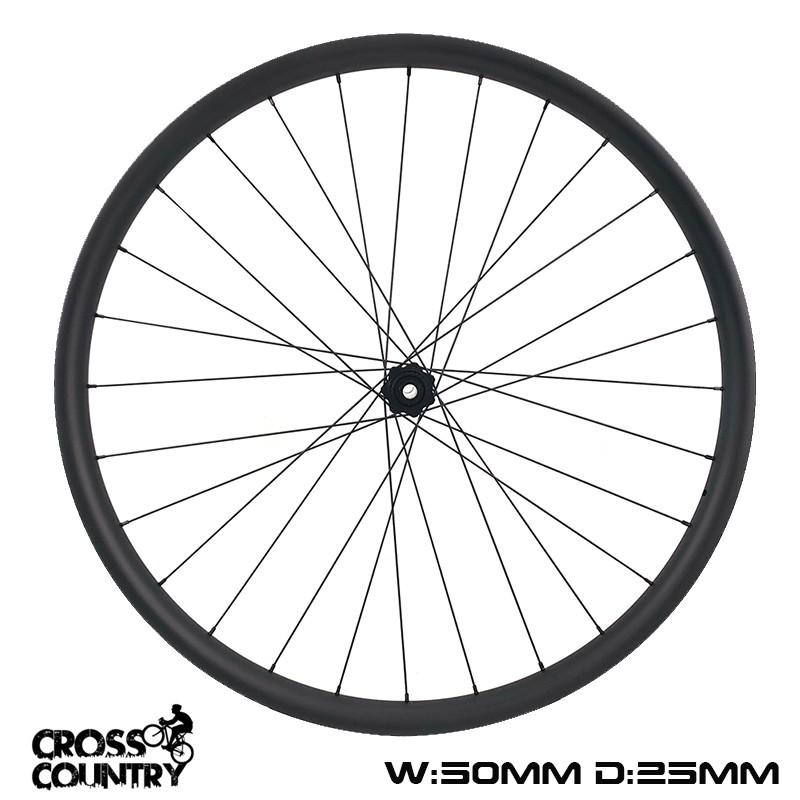 29er Mtb Rims 50mm width 25mm depth Hookless wheelset xc bike