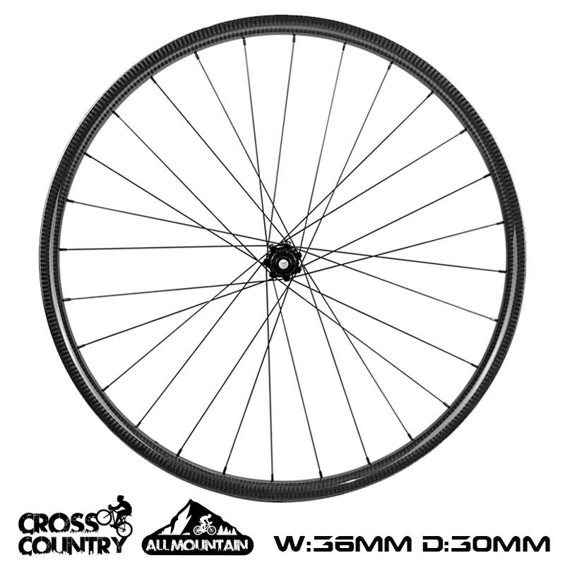 29er All Mountain Bike wheelset 36mm Width Symmetric 30mm depth