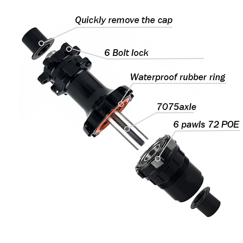 YAR M11 bike hub 6 bolt lock 6 pawls system freebody 72 POE