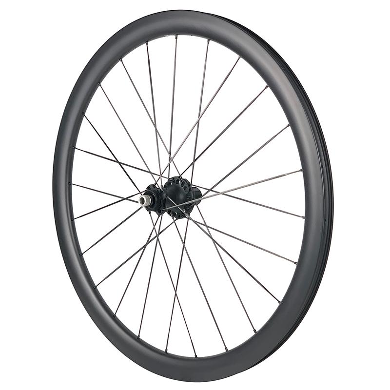 carbon spoke wheeselt disc brake ceramic bearing