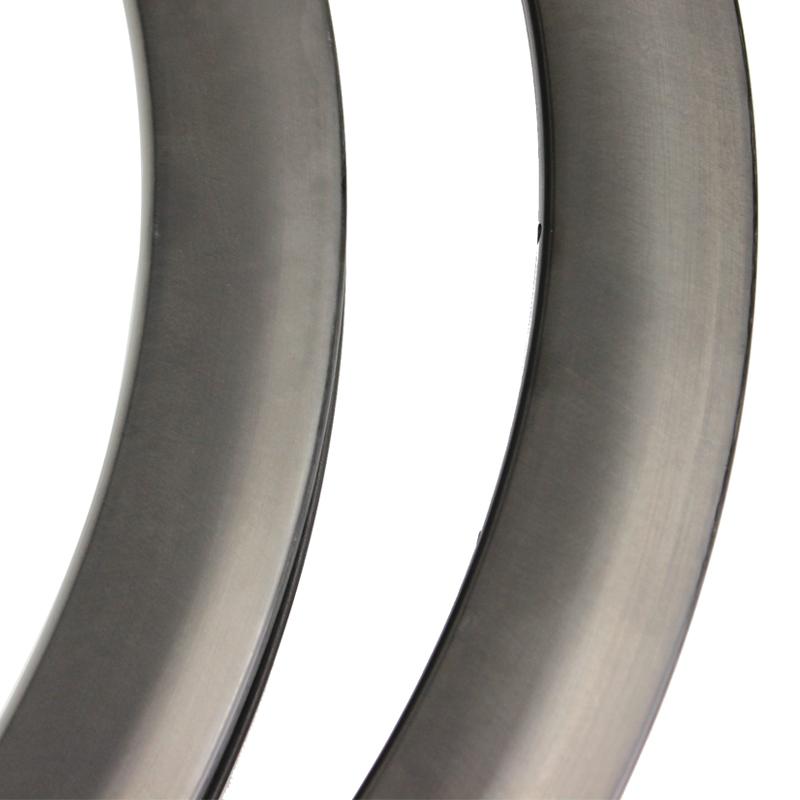 UNC 700c carbon rims 45mm disc brake original natural carbon surface Ultralight