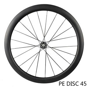 Carbon spoke PE DISC 45 ultralight wheelset ceramic bearing