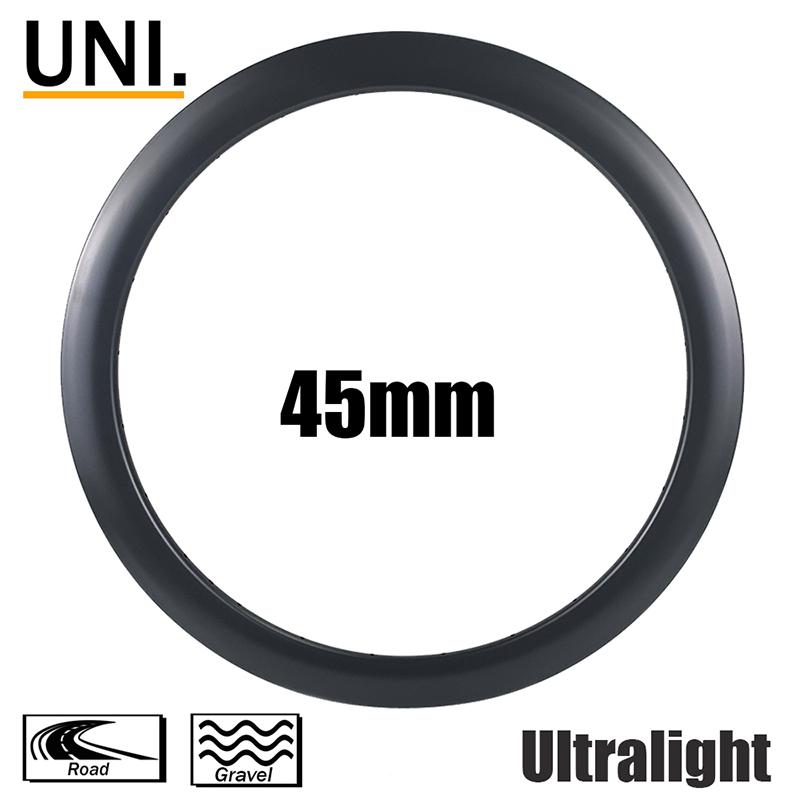 Novidades UNI. aros 700C 45 mm de profundidade do aro 21 mm de largura interna aros ultraleves