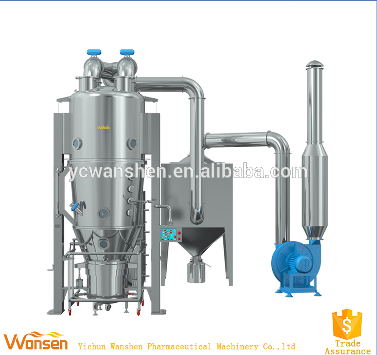 Low-cost/high quality/dust-free fluidized bed granulator machine(FL Series)