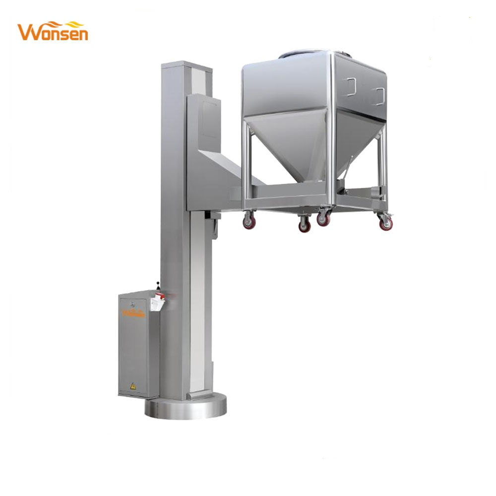 High Quality ISO 9001 Pharma machinery hydraulic Bin lifter