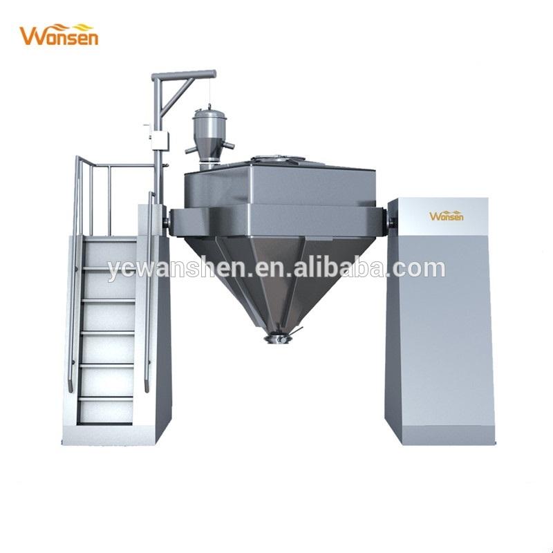 Misturador farmacêutico de cone quadrado e misturador de aço inoxidável