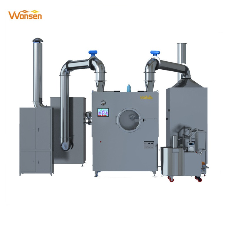CE approved Pharma SS304 SS316 Tablet pill sugar coating machine